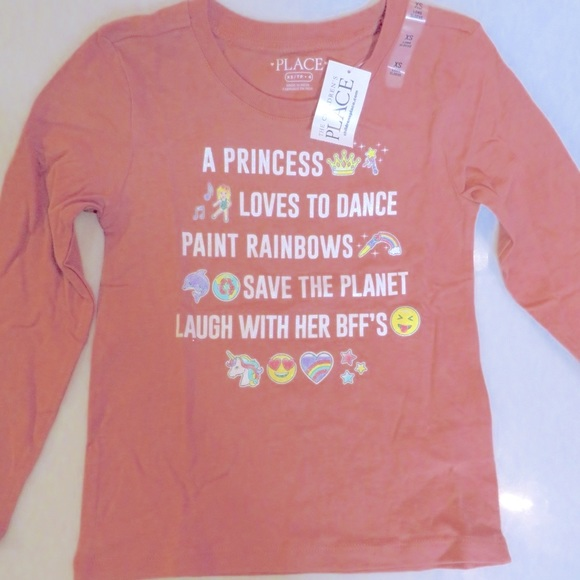 """The Children's Place """"Princess"""" S/S Tee (XS) NWT!"""